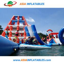 Speelplaats van het Water van de Sportuitrusting van het water de Opblaasbare met Trampoline