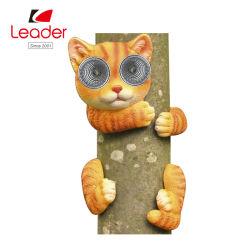 Polyresin Cat фигурка с солнечного света для украшения дерева