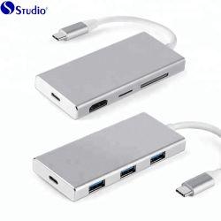 Concentrateur USB & C USB Hub USB 3.0 haute vitesse por HUB USB-C carte multiport Station d'accueil portable