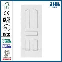 Madeira HDF/MDF Porta de moldagem de pele branca moldada (JHK-005)
