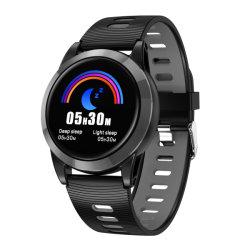 """En mode Point par point chaud Multi-Sports Tracker GPS étanche IPX67 1.3"""" rond à écran couleur montre Bluetooth Pressurement de sang et d'oxygène Moniteur bracelet en silicone"""
