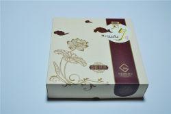 Het eenvoudige Vakje van de Gift van het Witboek voor Pakket Mooncake met de Goede Levering voor doorverkoop van het Dienblad van pvc van de Druk