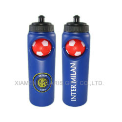 Antiderrames botellas de agua de bebida deportiva con el fútbol