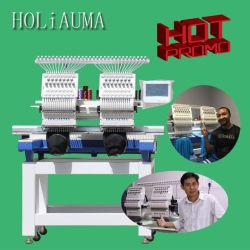 Holiauma 2 맨 위 모자 자수 기계 모자 t-셔츠는 판매 중국 사람 공급자를 위한 자수 기계 관 자수에 의하여 사용된 기계장치를 전산화했다