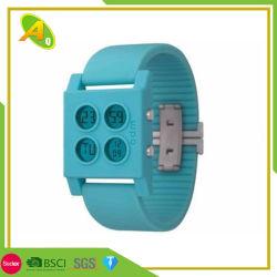 Logotipo de impressão personalizado bofetada PVC bracelete de Silicone (024)