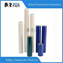 L'azzurro libero di vetro adesivo protegge la pellicola UV della finestra di protezione del nastro