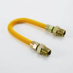 """5/8"""" flexível de aço inoxidável de diâmetro exterior a mangueira da linha de gás e flexível o conector da linha de gás /com Str. a válvula de esfera, revestidas a amarelo"""