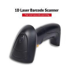 핸드헬드 PS/2 USB RS232 바코드 판독기 1d 레이저 바코드 스캐너 HS-6100