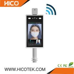 Reconhecimento facial LAN WiFi Scanner de temperatura do painel do leitor de cartão Ai IP CCTV binocular de infravermelhos câmara térmica de Controle de Acesso de presença