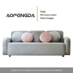 La combinazione del nord di Huxing di formato della stanza di seduta dell'Europa del sofà di arte del panno può essere smontata e sofà reale contratto moderno lavato del lattice dell'angolo del Concubine