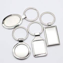 カスタム優秀な品質の昇進のステンレス鋼円形デザインキーホルダー