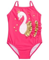 Swimwear dei capretti delle cinghie registrabili del costume da bagno del cigno del capretto