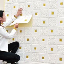 70*70cm 3D 3D Behang van de Sticker van de Bakstenen muur van het Behang van het Schuim Sef het Zelfklevende XPE Voor de Decoratie van het Huis