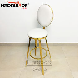 Bar de recepción de los muebles de cuero de color personalizado Designe taburete de bar