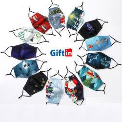 2020 estrellas con el mismo estilo para los niños y hombres de la moda de seda de la pantalla de protección facial Protección de suministro de algodón reutilizables Logotipo personalizado Máscara de fiesta de Navidad