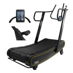 Equipos de gimnasio caminadora curvo para Sprint con aire Self-Powered Runner Woodway Andadera Tosora