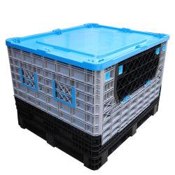 Industrielle Kunststoff-Palettenbox Lagerung Faltscheiben Zusammenklappbare Bulk Container Mit Deckel