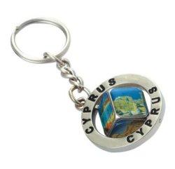 Landschaftsandenken Keychain Metallnamen-Schlüsselring