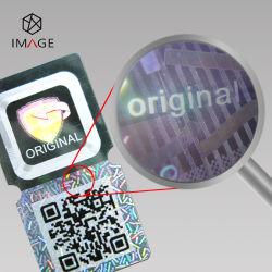 Pet personalizados etiqueta auto-adesiva com holograma Anti-Fake para embalagens de alimentos
