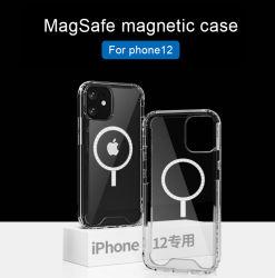Para el titular de tarjeta magnética Magsafe caso telefónica clara para el iPhone 12 de 12 mini 12Pro Max Anti-Drop transparente cubierta de la caja de teléfono