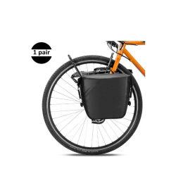 O rolete dianteiro Panniers Bag Rack Frontal Bike Bag Pacote Prateleira durável com pega de transporte e alça de ombro livre para explorar o deslocamento de piquenique 1 Par
