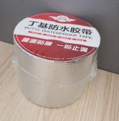 Super forte auto-adesiva de alumínio à prova da junta de estanqueidade da capota reforçado fita vedante de borracha de butilo de reparação para coberturas