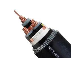 Câble électrique blindé Power Plant trois phase Fil d'acier d'isolation en polyéthylène réticulé 3x300mm2