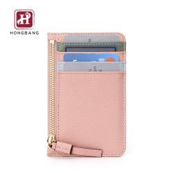 Senhora PU RFID Couro Bloqueando o cartão de crédito titular