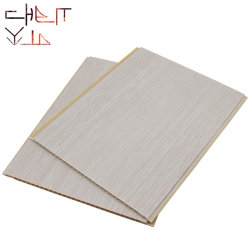 250mm 300mm refletivo laminado de madeira branca pura UV Painel de PVC de parede da placa de folhas de impressão de imagens do painel do teto de PVC branco brilhante para os Apartamentos
