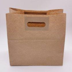 빵을%s 좋은 품질 백색 또는 브라운 Kraft 종이 봉지 또는 빵집 또는 커피 또는 디저트 또는 도넛 또는 케이크