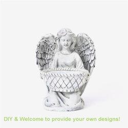 Fábrica de Quanzhou elegante Fairy estatua comedero para pájaros para el hogar/Jardín Decoración