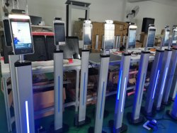 7 pulgadas de pantalla táctil Non-Contact Sistema de Control de acceso al sistema de alarma de temperatura del cuerpo de cámara térmica