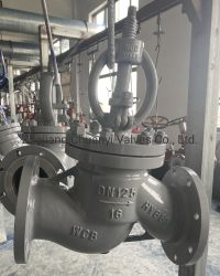 Pn16 DN125 en acier moulé à haute température/Acier inoxydable CF8CF8 m bride haute pression Valve de Globe