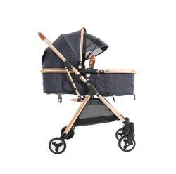 Neuer hoher Ansicht-Baby-Spaziergänger mit stützendem faltendem Schlag-Absorptionsmittel vier Jahreszeit-bidirektionaler beweglicher Baby-Spaziergänger