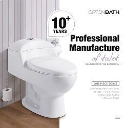 Mobile céramique toilettes commode salle de bains sanitaire Ware Sanitaryware placard d'eau Toilettes une pièce en céramique siphonique avec cuvette Couvercle