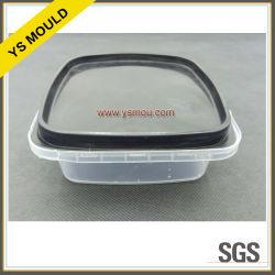 صندوق حفظ الطعام البلاستيكي ذو تجويفين مع غطاء قالب