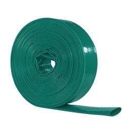 تفريغ الماء من مادة PVC مسطحة بحجم بوصتين للري مقاس 2 بوصة من مادة PVC خرطوم أخضر مرن لري المزرعة