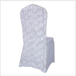 Оптовая торговля дешевые белый спандекс свадьбы Rosette стул крышки