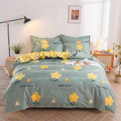 Mayorista de la fábrica de algodón puro de Otoño e Invierno Four-Piece Pulido, Nueva ropa de cama de algodón gruesa cubierta colcha de la ropa de cama