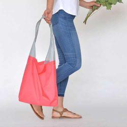 Logotipo personalizado transporte fácil Pequeno bolso Dobrável Tote Dobra Reutilizável Sacola de Compras