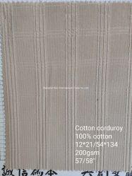 Textiel van de Doek van de Stof van het Kledingstuk van het katoenen de Corduroy Ontwerp van de Plaid
