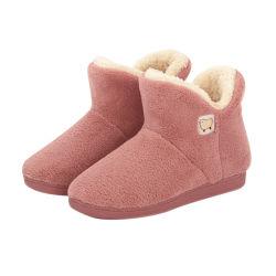 Vrouwen pluche Faux Fur warme Slippers Huis laarzen Winter Mode Home Indoor Floor Outdoor Boots
