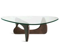 De Koffietafel van Noguchi van het glas met Houten Been