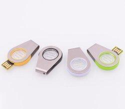 2019 Nieuwe Draaibare USB met leiden op Metaal en de AcrylAandrijving van de Flits van de Hoge snelheid USB
