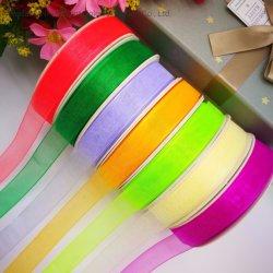 1/8''-4'' Comercio al por mayor de cinta de organza de seda en muchos colores de cinta de regalo de Navidad/costumbre/Vacaciones/Decoración