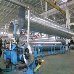 Conducto de espiral máquina de formación para la producción de fabricación de tubos de aire de aluminio
