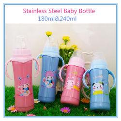 304 бутылочка для кормления малыша из нержавеющей стали с рукоятками 6 унций и 8 унций