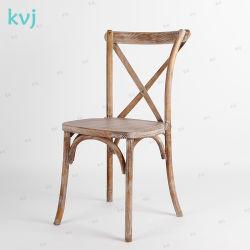 標準的な結婚式のカシ木骨董品の無作法なCrossbackの椅子