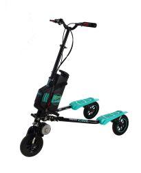 Scooter électrique pliable de découpage de véhicules cambrant de 3 points de Trikke