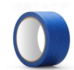 Papier de bonne qualité crêpe adhésif bleu du ruban de masquage